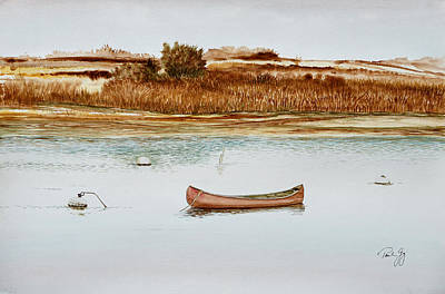 Painting - Old Town Canoe Menemsha Mv by Paul Gaj