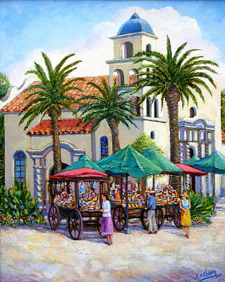 Painting - Old Town Cathedral by Miguel A Chavez