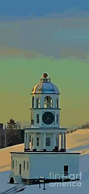 Halifax Town Clock Painting - Old Town Clock by John Malone
