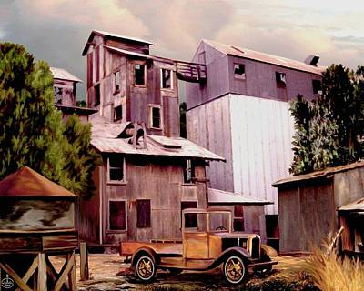 Love In An Elevator Painting - Old Town Granary by Ron Chambers