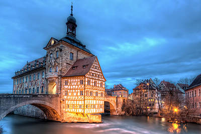 Frame House Photograph - Old Town Hall - Bamberg by Nico Trinkhaus