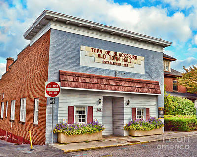 Photograph - Old Town Hall Blacksburg Virginia Est 1798 by Kerri Farley