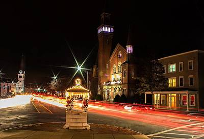 Photograph - Old Town Hall Light Trails by Sven Kielhorn