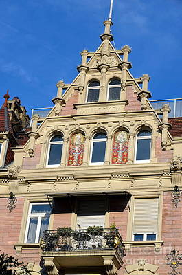 Old Town House Facade In Baden-baden Art Print