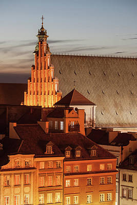 Photograph - Old Town Houses And St. John's Archcathedral In Warsaw by Artur Bogacki