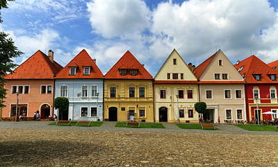 Photograph - Old Town Houses In Bardejov, Slovakia by Elenarts - Elena Duvernay photo