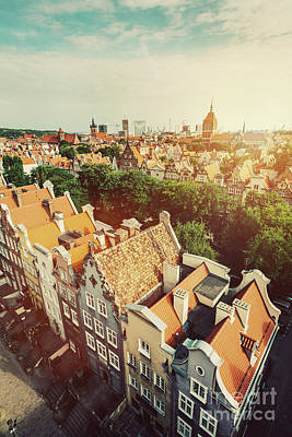 Photograph - Old Town In Gdansk Seen From Viewing Tower. by Michal Bednarek