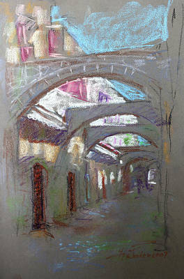 Rhodes Pastel - Old Town In Rhodes  Greece by Ylli Haruni