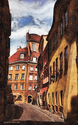 Photograph - Old Town In Warsaw # 22 by Aleksander Rotner
