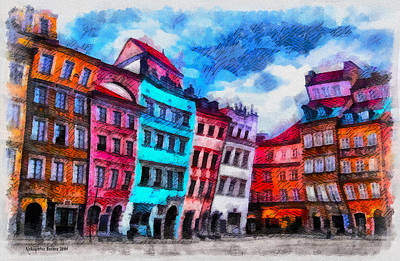 Photograph - Old Town In Warsaw #11 by Aleksander Rotner