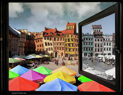 Photograph - Old Town In Warsaw #13a by Aleksander Rotner