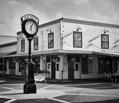 Photograph - Old Town - Kissimmee - Florida - B/w by Greg Jackson