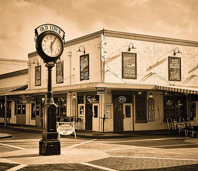 Photograph - Old Town - Kissimmee - Florida - Summer Sunset - Sepia by Greg Jackson