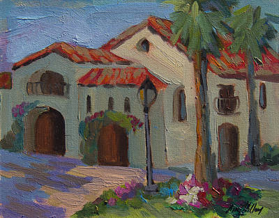 Town Painting - Old Town La Quinta Afternoon by Diane McClary