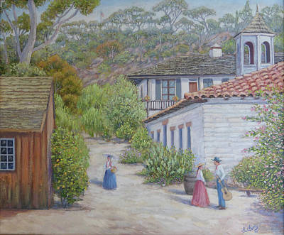 Painting - Old Town Landscape by Miguel A Chavez