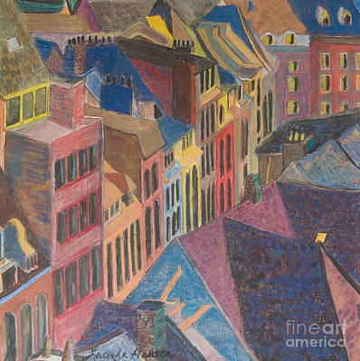 Old Town Art Print by Lucinda  Hansen