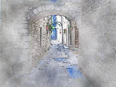 Port Town Digital Art - Old Town by Mark Taylor