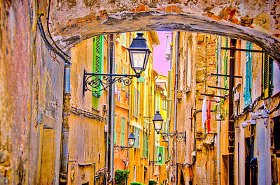 Photograph - Old Town Nizza, Southern France by Monique's Fine Art