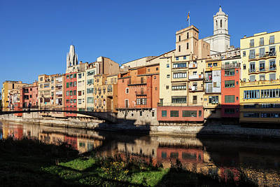 Photograph - Old Town Of Girona Waterfront Houses by Artur Bogacki