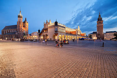 Cracow Photograph - Old Town Of Krakow At Dusk In Poland by Artur Bogacki