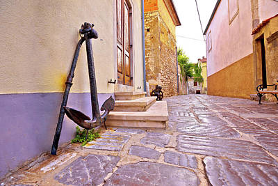 Photograph - Old Town Of Krk Stone Street And Old Anchor View by Brch Photography