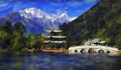 Old Town Of Lijiang Art Print by Vincent Monozlay