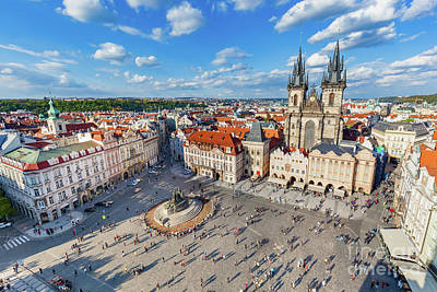 Lady Photograph -  Old Town Of Prague, Czech Republic. View On Tyn Church by Michal Bednarek