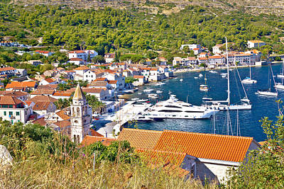 Photograph - Old Town Of Vis Yachting Waterfront by Brch Photography