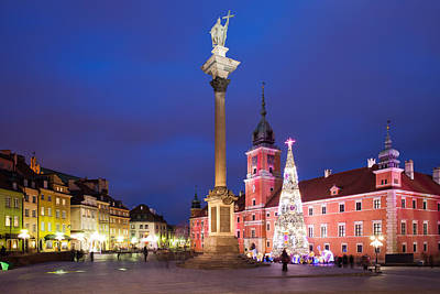 Photograph - Old Town Of Warsaw By Night In Poland by Artur Bogacki