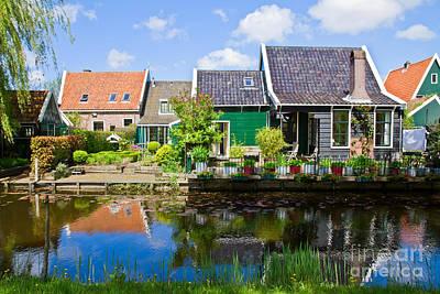 old  town of Zaandijk, Netherlands Art Print by Anastasy Yarmolovich