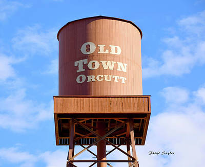 Photograph - Old Town Orcutt Water Tower  by Floyd Snyder