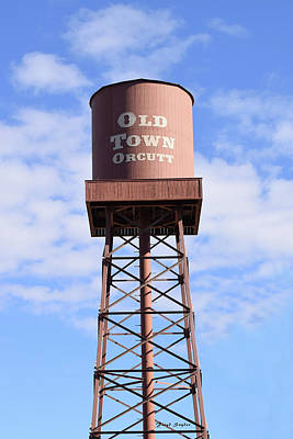 Photograph - Old Town Orcutt Water Tower Tall by Floyd Snyder