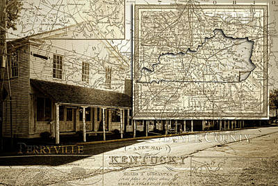 Photograph - Old Town Perryville Map by Sharon Popek