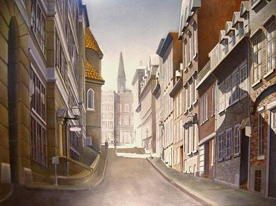 Quebec Streets Painting - Old Town Quebec by Paul Gilbert Baswell
