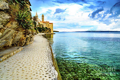 Photograph - Old Town Rab Meets The Adriatic, Rab, Croatia by Global Light Photography - Nicole Leffer