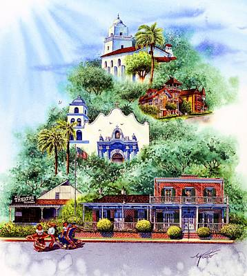 Old Town San Diego Painting - Old Town San Diego by John YATO