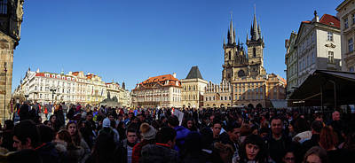 Photograph - Old Town Square Crowd. Prague Spring 2017 by Jouko Lehto