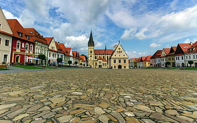 Photograph - Old Town Square In Bardejov, Slovakia by Elenarts - Elena Duvernay photo