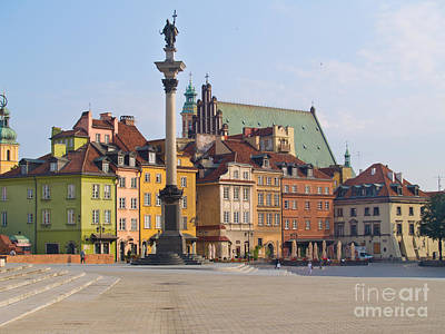 Old Town Square Zamkowy Plac In Warsaw Art Print