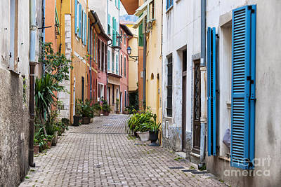 Photograph - Old Town Street In Villefranche-sur-mer by Elena Elisseeva