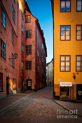 Stockholm Photograph - Old Town Streets by Inge Johnsson
