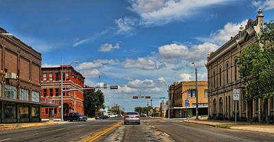 Old Town Taylor Intersection Art Print by Linda Phelps
