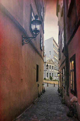 Photograph - Old Town Vienna Narrow Alley  by Carol Japp