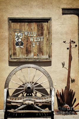 Photograph - Old Town Wild West Decor Landscape by Andrea Hazel Ihlefeld