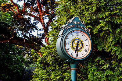 Photograph - Old Towne Daphne Clock  by Michael Thomas