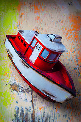 Old Toy Boat Art Print