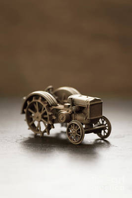Print featuring the photograph Old Toy Tractor by Edward Fielding