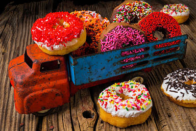 Old Toy Truck And Donuts Art Print by Garry Gay