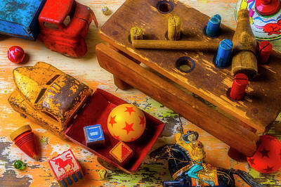 Photograph - Old Toys From Childhood by Garry Gay