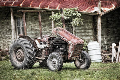 Digital Art - Old Tractor 6510 by Kevin Chippindall